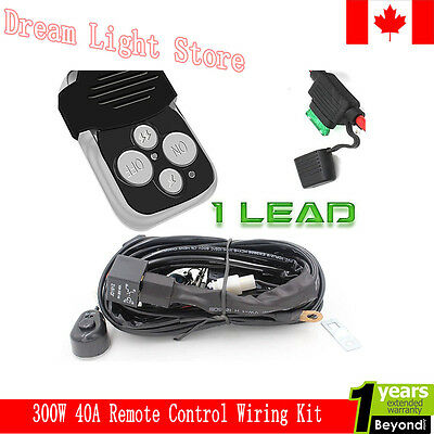 LED Work Fog Light Bar Wiring Harness Relay Kit ON/OFF Switch Off Road (1Lead)
