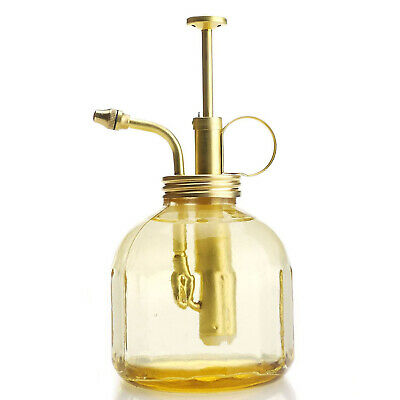 Glass & Brass Gardening & Planting Mister Decoration Sprayer Watering Can Gifts