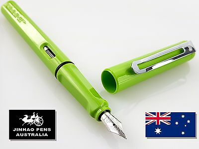 JINHAO 599a Gloss Green Fountain Pen Fine Nib + 2 Black Cartridges