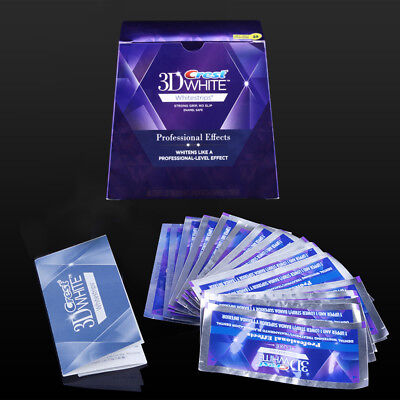 Crest 3D White Luxe Whitestrips Whitening Professional Effect 40Strips 20Pouches