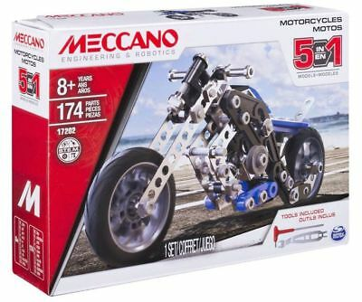 Motorcycle Building Kit - Meccano Free Shipping!