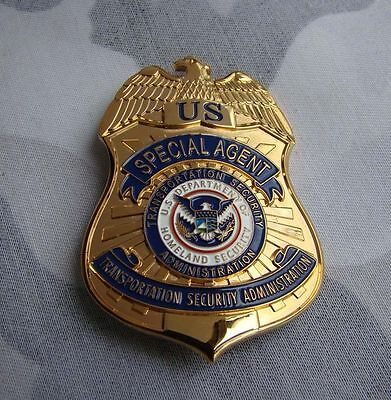 U.S SPECIAL AGENT TRANSPORTATION SECURITY PROPS COLLECTION BADGE Full Size B01