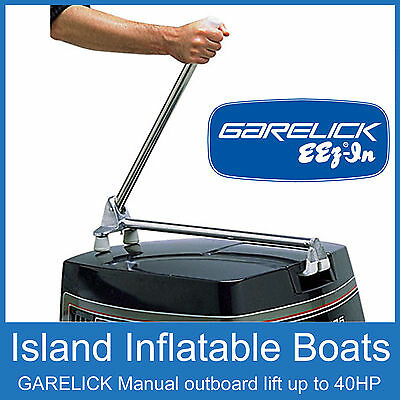 GARELICK MANUAL OUTBOARD MOTOR TILT SYSTEM Suits up to 40hp 71036 Trim FREE POST