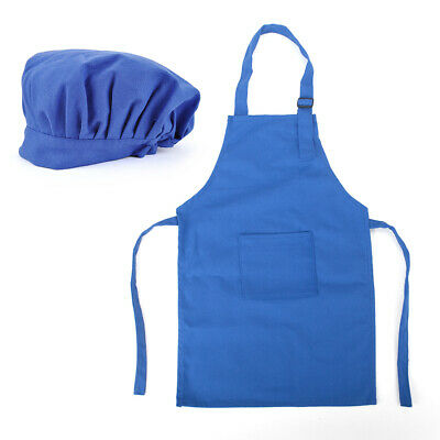 Opromo Colorful Cotton Canvas Kids Aprons and Hat Set, Home Party Favors(S-XXL)
