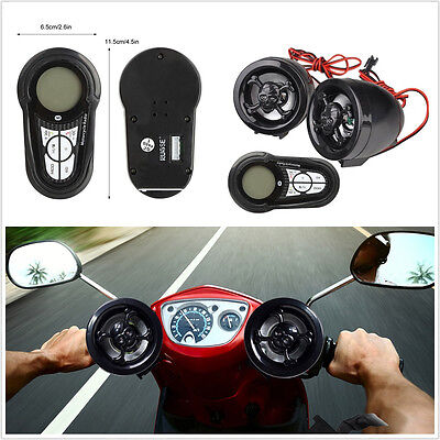 Waterproof 7-Color Backlight 12V Motorcycles Audio System Stereo Speaker MP3 USB