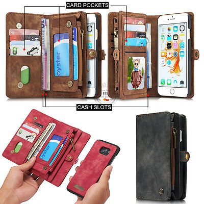 XO Retro Wallet Luxury Leather Flip Case Cover For Apple Samsung S7 Edge S8 Plus