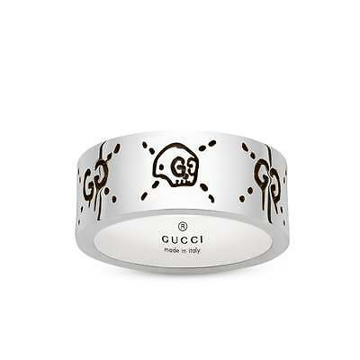 RING GUCCI GHOST Ring YBC455318001 LADIES SILVER 9mm new collection unisex