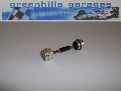 Greenhills Scalextric Ford Escort XR3i Front Axle and Wheels Chrome Used P2123