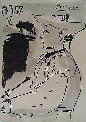 Picasso Pen & Ink Drawing The Matador 1959 Original