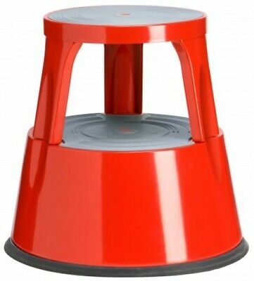 Metall Rollhocker Twin Steel - rot - Hocker