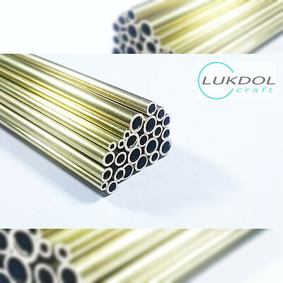 BRASS ROUND TUBE PIPE / 100mm to 500mm LONG / OD: 2.0mm to 20.0mm - wall 0.45mm