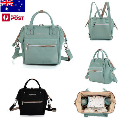 AU Convertible Water Resistant Nylon Baby Diaper Bag Mummy Backpack Mother Bags