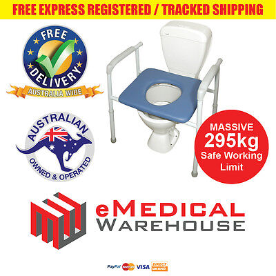AusCare Bariatric All in One - Over Toilet Aid, Shower Chair and Commode - 295kg