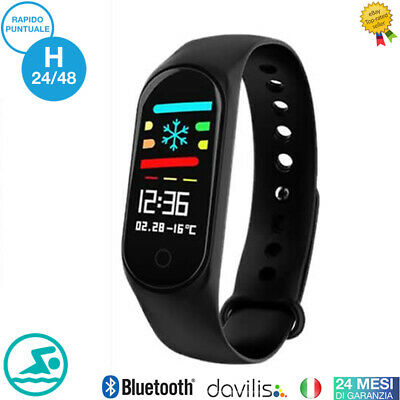 CARDIOFREQUENZIMETRO DA POLSO FITNESS TRACKER SPORT BAND SMARTWATCH ANDROID iOS