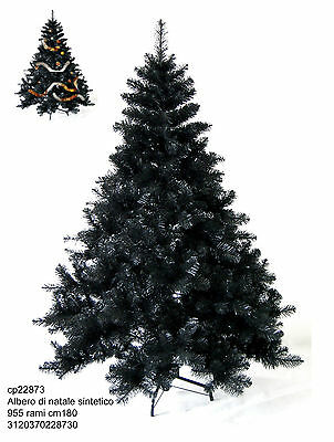 Christmas tree synthetic high 180 cm with 955 branches and base three legs iron