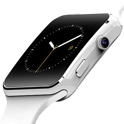 Fusoris E6 Smart Watch Bluetooth For Android/Samsung, Apple Watch, White
