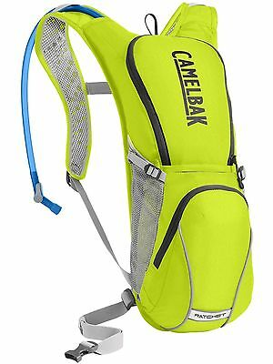 New 2017 CamelBak Ratchet 100oz (3L) Lime Punch / Silver Hydration pack