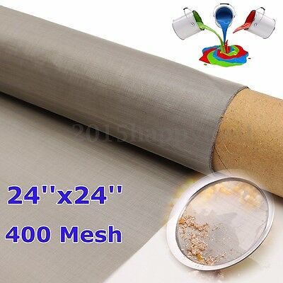 400 Mesh 61 x 61cm Stainless Steel Filtration Woven Wire Grill Sheet Fine Filter