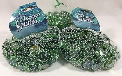 Lot of Crafters Square Green Glass Gems Mosaic Vase Fillers Pebbles