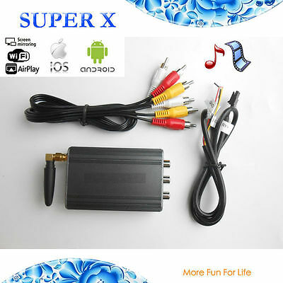FOR CAR STEREOS WiFi IOS AIRPLAY ANDROID MIRACAST SCREEN MIRRORING DISPLAY
