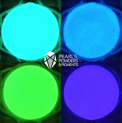 ULTRA Glow in the Dark Powder Fluorescent Paint Pigment Nail Art Polish Dip