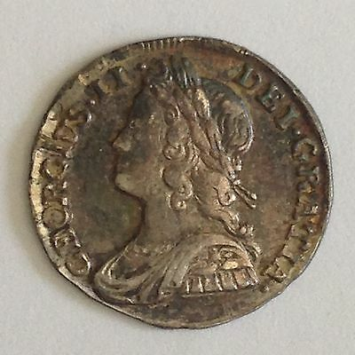 1732 Maundy Twopence EF, George II, Great Britain, UK, Washington Birth Year