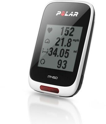 Polar M450 GPS Bike Computer With Heart Rate Monitor  White