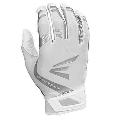 Easton ZF7 VRS Hyperskin Fastpitch Batting Gloves White/White A121360 XL,NEW
