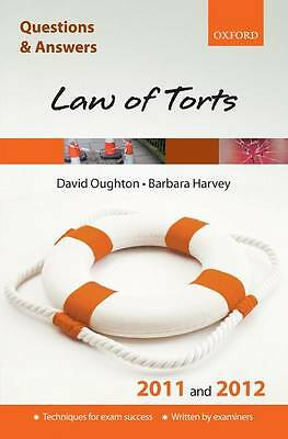 Q & A Revision Guide: Law of Torts 2011 and 2012 (Law Questions & Answers), Good