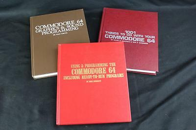 3 Hardcover Commodore 64 Books: 1001 Things, Using Programming, Graphics & Sound