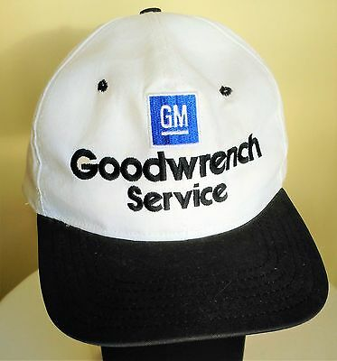 GM Goodwrench Service Snapback Cap Hat Collectable White Black One Size