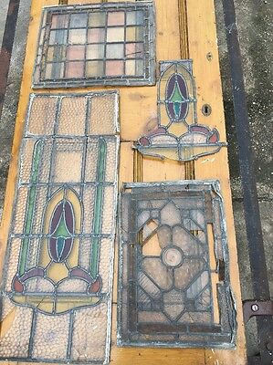 Stain Glass Panels X 4
