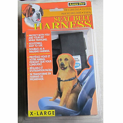Aspen Seat Belt Safety Harness for Extra Large Dogs  110-150lbs