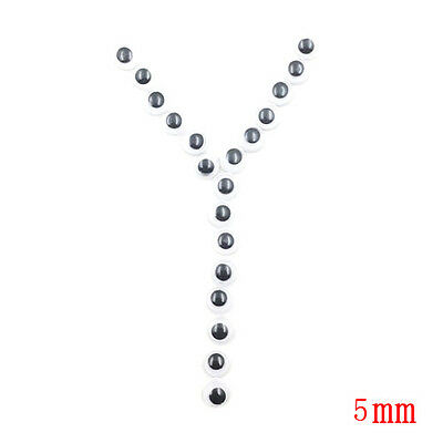 2000pcs 6mm Round Wiggly Wobbly Googly Eyes Self-adhesive Crafts Free shipping