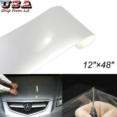 "12""x48"" Clear Car Bumper Hood Paint Scratch Proof Protection Film Vinyl Decal"