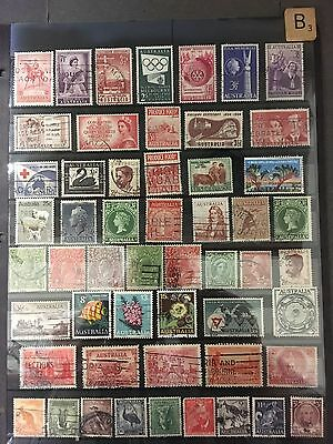 Australia: Nice Stamp Collection - All Different Collectors Bargain  Free Ship B