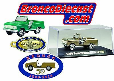 Johnny Lightning Golden 50th Anniversary diecast bronco only 500 made!