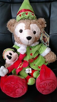 Duffy, the Disney Bear dressed as an elf