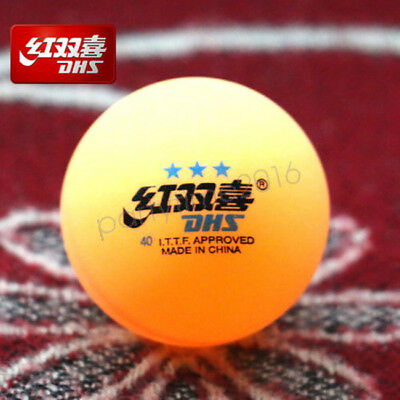6x DHS 3 stars ORANGE Table Tennis Ping Pong Balls 40MM Olympic Quality