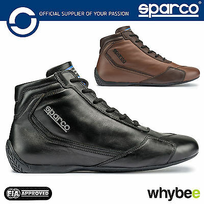 001239 Sparco Slalom RB-3 Classic Race Leather Boots Vintage FIA Fireproof