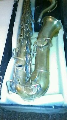 c melody saxophone carl fisher nyc    Buescher stencil ! As is repair no returns