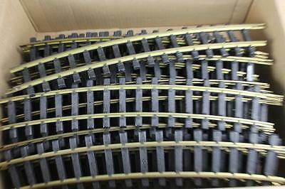 """Lot of 24 Aristo Craft 18"""" G Scale Curved Brass Track Segments"""