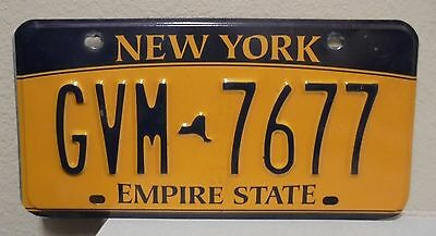 2012 New York  Empire State Gold License Plate Gvm 7677 Used