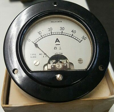 Antique amp meter