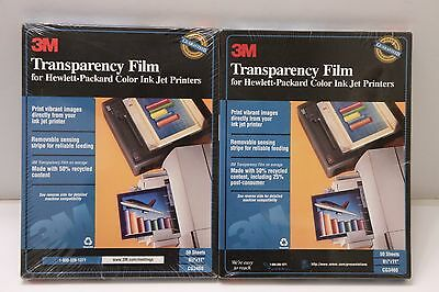 """(2) 3M Transparency Film Inkjet Printers 100 Sheets 8.5"""" x 11"""" in CG3460 NEW"""
