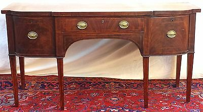 Fine 18Th Century George Iii Mahogany Inlaid Sideboard