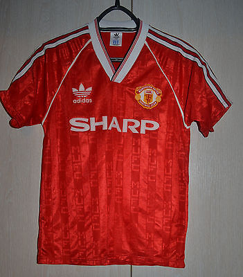 Manchester United 1988/1989/1990 Home Football Shirt Jersey Adidas Vintage