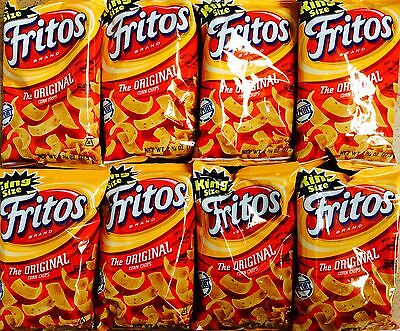 Eight Bags of Fritos Original Corn Chips 77.9g American Import