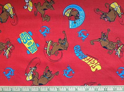 """Hanna-Barbera 2000 Scooby Doo Cotton Fabric 45"""" Selvage By The Yard"""