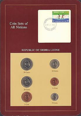 Coin Sets of All Nations Sierra Leone w//card UNC 1980 /& 1984